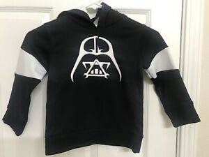 Star Wars | Young Kid's Darth Vader Hoodie Sweater Pull Over  S(4) Black