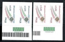ITALIA 2014 - Poste Italiane da 0,80 e 0,95 € - COPPIA con CODICE a BARRE