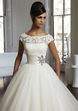 Organza Ball Gown/Duchess Cap Sleeve Wedding Dresses