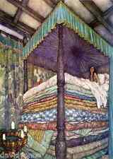 Princess and the Pea 9 x 12 inch Needlepoint Canvas