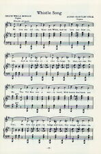 "PHI MU Sorority Vintage Song Sheet c1960 ""Whistle Song"" and ""A Phi Mu Grace"""