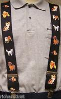 """Suspenders 2""""x48"""" FULLY Elastic Animal Dogs small NEW"""