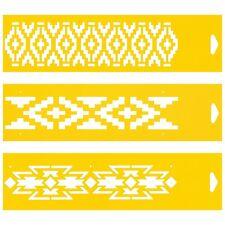 3 plantillas Pastel Pared Aerógrafo Decoración Dibujo plantilla Azteca Modelo étnico