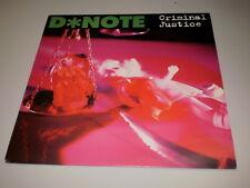 """D*NOTE (D NOTE) - CRIMINAL JUSTICE - 1995 - DORADO LP - MADE IN UK - 12"""" -"""