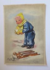 """Kinder, Schlitten, Schneeball"" 1950♥ (52648)"
