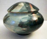 Ceramic Medium Lidded Bowl--by Tom Kendall