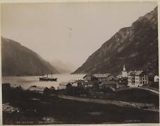 Knudsen. Norvège, Parti Af Odde, S. Victoria Vintage albumen print.  Tirage al