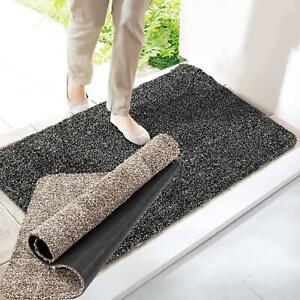 SUPER ABSORBENT MAGIC DOOR MAT CLEAN STEP WASHABLE INDOOR OUTDOOR ANTI SLIP MAT