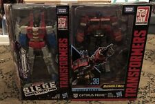 2 Transformer Siege War Cybertron Starscream & Studio Series 38 Optimus Prime