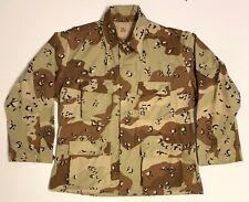 Original Desert Storm 1990 Dated Chocolate Chip Camo Combat Coat, Large Regular