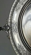 """Wilcox Silver Plated Centerpiece Bowl With Pierced Lid """"Normandie"""" Pattern"""