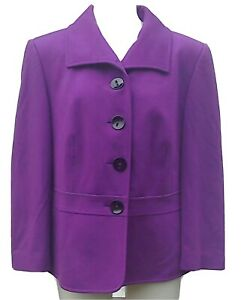 GERRY WEBER 💜 PURPLE FITTED JACKET .. UK 18 fits 16/18 .. Excellent Condition
