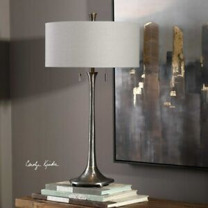 """ALISO MODERN INDUSTRIAL INSPIRED CAST IRON XXL 31"""" TABLE LAMP UTTERMOST 27786"""