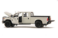 "Ford F250 Crew Cab 6 Ft Bed - ""WHITE"" - Black Wheels - 1/50 - Sword #SW1200W"