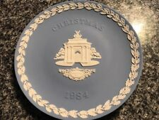 Wedgwood Christmas Series 1984 Jasperware Constitution Hill Collector Plate