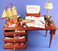 Boat modeler's table -  1/12 scale dollhouse miniature