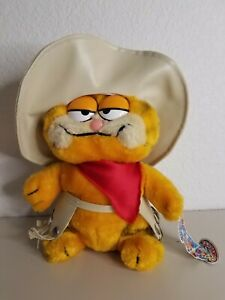 "Garfield Cat Move Over Duke Rare Plush Chaps Cowboy Hat Stuff animal 8"" Dakin"