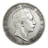 Pièce Argent Allemagne 5 Mark Guillaume II 1903 Wilhelm II Germany Silver Coin