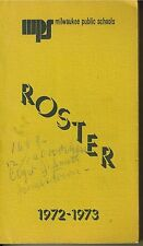 1972-73 Milwaukee Public School Roster /  Directory