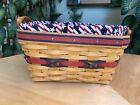Longaberger 2000 All American Century Celebration basket Fabric & Plastic Liner