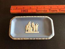Wedgwood Blue Jasper Ware Oblong Trinket pin Tray Vintage England Free shipping
