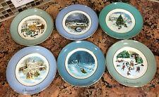"""Avon Christmas Plate Series Enoch Wedgwood """"Christmas Plates Years 1975 - 1980"""""""