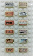 LEGO 12 1X2 TICKETS TILES Minifig TRAIN TICKET MOVIE Lottery Game Bus Car Pass
