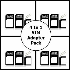 Nano Sim card to Micro SIM Adapter to Standard Converter for iPhone 5 5S 5C 4S 4