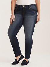 Torrid Skinny Jeans 26 Classic Fit Dark Wash Fading Plus Size 26 Regular