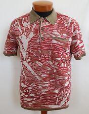 NWT Authentic MISSONI ORANGE LBL Flax Cotton Short-Sleeve Polo Shirt Top IT-48/M