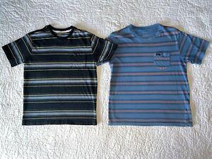 Boys RVCA *Set of 2* Striped Pocket T-shirts Shirts Tops Size L Large 12 GUC!
