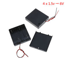 4 x Aa 6V battery holder connector storage case box on/off switch with lead Fd