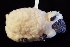 Bath and Body Works Sheep Plush Ornament Purple Gold Sparkle Face Small 4""