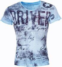 Key Largo Herren Jungen Party T-Shirt DRIVING blue blau T00705