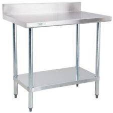 """Regency 30""""x 36"""" Stainless Steel 18 GA Work Prep Table Commercial 4"""" Backsplash"""