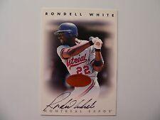 1996 Donruss Leaf Signature Series Bronze Autograph RONDELL WHITE Auto Expos
