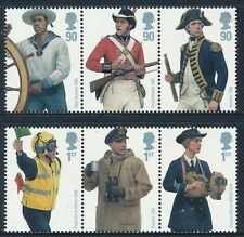 2009 GB ROYAL NAVY UNIFORMS SET OF 6 FINE MINT MNH SG2964-SG2969