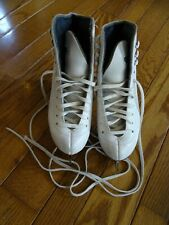 White Riedell Figure Ice Skates Model 21 Girls Size 13 Youth