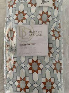 Ballard Designs Estella Tile Print Set of 2 Twin Bed-skirts