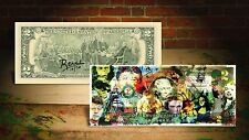 COLLAGE GENIUS by RENCY Art Giclee on Real $2 Bill Signed by Artist #/70 Banksy