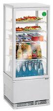 Mini  Kühlvitrine 98 L Umluft Kühlung Schaukühlschrank Bartscher 700298G Gastro