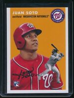 2018 Topps Throwback Thursday Juan Soto RC Card #260 Rookie SP