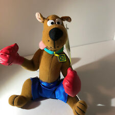 "Warner Bros plush Scooby Doo Boxer Boxing gloves 10"" seated Blue shorts"