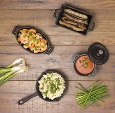 Valiant Miniatura 4 piezas utensilios de cocina de estufa de hierro fundido-FIR554