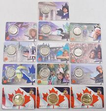 2000 Canada 25 Cents & Dollar Proof-Like RCM Collectors Cards Lot of 13 (#5124)
