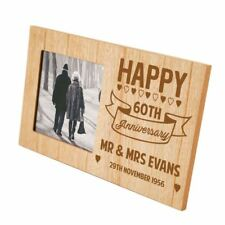 60th Anniversary Bespoke Wooden Photo Frame Special Gift for Diamond Couple
