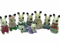 Calico Critters Sylvanian Families Blackberry Rabbit Family of 9 with 2 babies