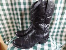 VINTAGE SANDERS CLASSIC BLACK LEATHER Ladies COWBOY BOOTS 6.5 D