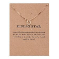 Rising Star Circle Alloy Clavicle Pendant Necklace