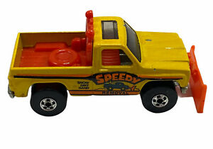 "Hot Wheels #1129 1979 Super Scraper Yellow ""Speedy Removal"" BW Hong Kong Loose"